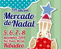 Esta mañá abríu as súas portas en Ribadeo o XII Mercado do Nadal. 25 expositores participarán neste mercado de artesanía e deseño ata o 8 de decembro.