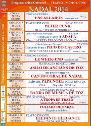 Foz acollerá neste mes catro obras de teatro, dous festivais musicais e o tradicional concerto de Nadal da Banda Municipal.