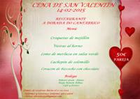 El restaurante ribadense A Dorada do Cantábrico ofrece una cena especial para San Valentín.