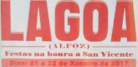 Festas en Alfoz. Os días 21 e 22 de  xaneiro celébranse na parroquia de Lagoa na honra de San Vicente e o 21 en Carballido en honor a San Sebastián.