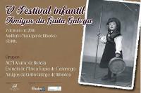 Este sábado, 7 de maio, celébrase no auditorio municipal de Ribadeo o V Festival Infantil de Amigos da Gaita Galega.