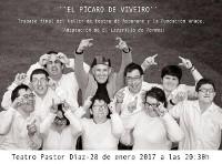 """El Teatro Pastor Díaz acogerá el 28 de enero la representación de """"El pícaro de Viveiro"""", a cargo del grupo de teatro de Aspanane."""