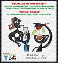 O IES de Foz acolle do 16 ao 18 de febreiro o IX Campionato Internacional de Baristas de Escuelas de Hostelería e o IV Campionato Internacional de Baristas Profesionais.