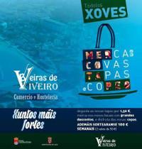 """Beiras de Viveiro organiza a campaña """"Merca en Covas, Tapas e Copeo"""", que se desenvolverá todos os xoves do mes de outubro. Haberá tapas a 1,50 euros, descontos e o sorteo semanal de 100 euros."""