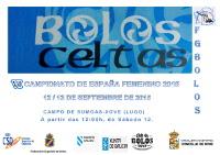 Os días 12 e 13 de setembro disputarase en Xove o Campionato de España Feminino de Bolos Celtas.