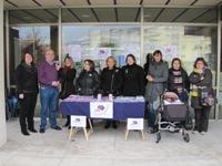 Burela celebra o Día Internacional para a Eliminación da Violencia contra a Muller con Diversos Actos: un seminario, unha pancarta, unha concentración e a lectura dun manifesto.