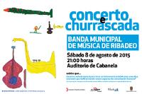 O auditorio ribadense de Cabanela acollerá un concerto e unha churrascada da Banda Municipal de Música de Ribadeo este sábado, 8 de agosto.