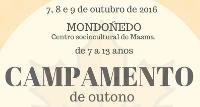 Chao de Castro Altair, de Burela, organiza un acampamento de outono para nenos e nenas de 7 a 13 anos. Será do 7 ao 9 de outubro en Mondoñedo.