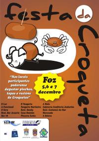 Acia/Cca Foz organiza para este fin de semana a súa I Festa da Croqueta. Quince bares e restaurantes locais sumáronse a esta iniciativa, que terá lugar os días 5, 6 e 7 de decembro