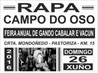 O Concello de Mondoñedo colabora coa Rapa de Campo do Oso, que se celebrará o 26 de xuño. Trátase dunha das primeiras da tempada.