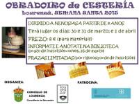 O Concello de Lourenzá organiza un obradoiro de cestería para nen@s a partir de 8 anos de idade. Será na vindeira Semana Santa.