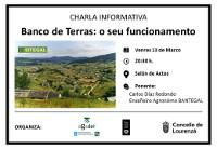 En Lourenzá terá lugar unha charla informativa sobre o funcionamento do banco de terras. Será o venres 13 e correrá a cargo de Carlos Díaz Redondo.