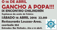 O colectivo Chilindrín, de Celeiro, organiza o IX Encontro Chilindrín, que se celebrará o 16 de abril no restaurante Louzao, en Area.