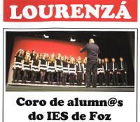 A Concellería de Cultura de Lourenzá organiza unha actuación do Coro de alumn@s do IES de Foz o 21 de abril. Será no salón de actos municipal.