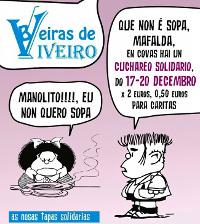 """Do 17 ao 20 de decembro celébranse en Covas as Xornadas Gastronómicas do Cuchareo, que organiza a asociación de hostaleiros """"Beiras de Viveiro""""."""