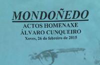 Mondoñedo acollerá varios actos de homenaxe a Álvaro Cunqueiro este xoves, 26 de febreiro. Está organizados polo Concello.