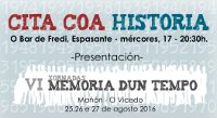 O 17 de agosto preséntanse en Espasante as VI Xornadas Memoria dun Tempo, que organiza Nordés Faladora e que se celebrarán do 25 ao 27 deste mes en Mañón e no Vicedo.