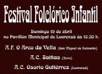 O pavillón municipal de Lourenzá acollerá o 19 de abril un festival folclórico infantil organizado pola asociación cultural Osorio Gutiérrez.