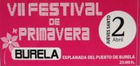 El 2 de abril (Jueves Santo) tendrá lugar en Burela el VII Festival de Primavera.