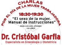 O salón de actos da Casa do Mar de Ribadeo acollerá esta sábado, 5 de marzo, dúas charlas do xinecólogo Cristóbal Garfia.