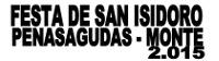 Os días 18 e 19 de abril terán lugar as festas de San Isidoro en Penasagudas-Monte (Xove).
