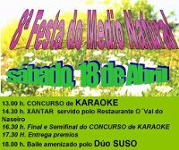 Fraga das Saímas convoca o I Concurso de Karaoke no marco da súa 8ª Festa do Medio Natural, que terá lugar o 18 de abril.