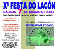 O 7 de marzo celébrase en Xove a X Festa do Lacón, organizada pola asociación cultural Saíñas. As entradas xa están á venda en varios locais.