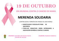 En Lourenzá terá lugar unha merenda solidaria o 19 de outubro, con motivo da celebración do día mundial contra o cancro de mama. Está organizada polo Concello.