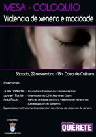 O Concello de Foz organiza un coloquio sobre violencia de xénero e mocidade para este sábado na Casa da Cultura.