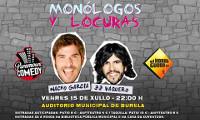 """""""Monólogos y locuras"""" de Nacho García e JJ Vaquero chegará ao auditorio de Burela o vindeiro 15 de xullo. As entradas xa están á venda."""