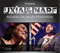 """""""Baladas da Galiza imaxinaria"""", un concerto de formato intimista de Uxía Senlle e Narf o 27 de marzo en Viveiro."""