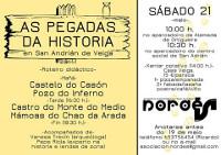 Nordés Faladora organiza este sábado, 21 de maio, un percorrido por San Adrián da Veiga (Ortigueira). Un castelo, un pazo, un monte e unhas mámoas son algúns dos puntos a visitar.