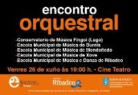 """""""Encontro Orquestral"""" mañá, 26 de xuño, no Teatro en Ribadeo e o sábado no centro cívico de Xove."""