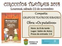 A obra Os Putativos chega este sábado a Lourenzá da man do grupo de Teatro de Ribadeo. A representación comezará ás 8 da tarde no Salón de Actos da Casa do Concello.