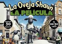 """O 30 de agosto conclúe en Burela o ciclo de cine ao aire libre, que organizou durante o verán a Concellería de Cultura. Será coa proxección de """"La Oveja Shaun""""."""