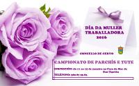 O Concello de Cervo organiza campionatos de tute e de parchís para celebrar o día da muller traballadora.