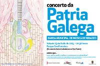 A Banda Municipal de Música de Ribadeo ofrecerá o seu concerto do día da patria galega no parque de San Francisco este sábado, 25 de xullo.