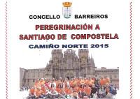 O Concello barreirense organiza unha peregrinación por etapas a Santiago, a través do Camiño Norte. A primeira será este sábado, 9 de maio.