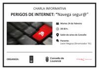 O Concello de Lourenzá organiza unha charla sobre os perigos de internet. Será o 24 de febreiro ás oito e media da tarde.