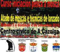 A asociación de pescadores Río Masma organiza un curso de iniciación de pesca á mosca. Será o 3 e o 4 de setembro en A Cazolga.
