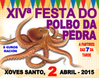 Na XIV Festa do Polbo da Pedra de Xove prepararanse 1.500 quilos deste cefalópodo. O evento será o 2 de abril.