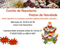 A asociación de Amas de Casa e Consumidores Baos, de Lourenzá, organiza dous cursiños en decembro: un de postres de Nadal e outro de alimentación saudable.