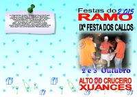 Os días 2 e 3 de outubro celébrase a Festa do Ramo no Alto do Cruceiro, en Xuances.