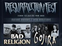 Trece bandas más se unen al cartel del Resurrection Fest 2016, que se celebrará en julio en Viveiro. Bad Religion, Gojira o H2O son algunas de las que estarán presentes en la décimo primera edición del festival.
