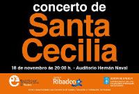 Este mércores, 18 de novembro, terá lugar o concerto da Escola Municipal de Música e Danza de Ribadeo na honra de Santa Cecilia.