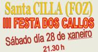 A III Festa dos Callos da parroquia de Santa Cilla, na que colabora o Concello de Foz, celebrarase o día 28 deste mes.