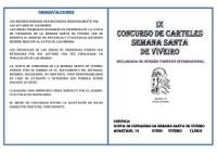 Convocado el IX Concurso de Carteles de Semana Santa, en Viveiro. El plazo de presentación de trabajos está abierto hasta el 15 de enero.