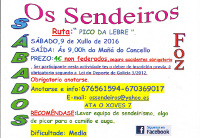 Os Sendeiros de Foz comienzan este sábado, 9 de julio, sus rutas del verano por Pico da Lebre.