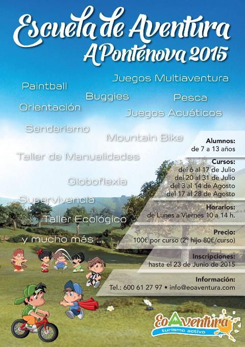 Eo Aventura, de A Pontenova, organiza su Escuela de Aventura 2015 durante los meses de julio y agosto con infinidad de actividades.