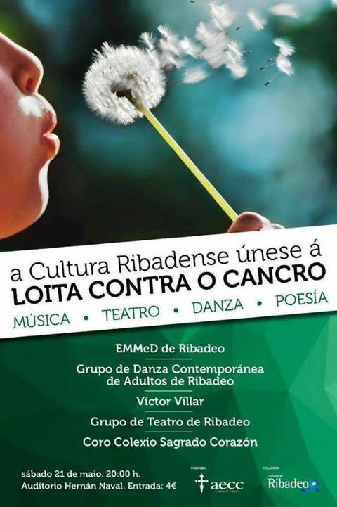Este sábado, 21 de maio, o Auditorio Municipal de Ribadeo acollerá o Festival a favor da Loita contra o Cancro.
